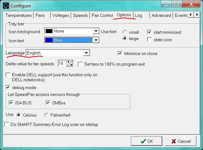 SpeedFan — программа  для измерения температур компьютера